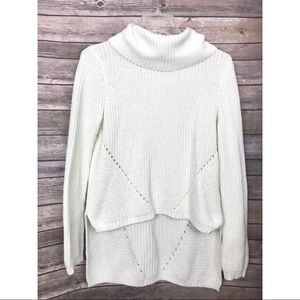 •Anthropologie• MOTH High-Low Funnel Neck Sweater